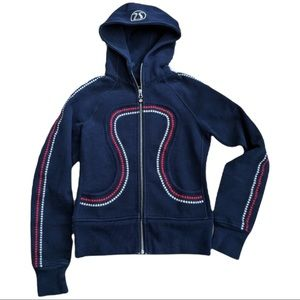 Lululemon Women's Cheer Gear Special Edition USA 2010 Olympic Remix Navy Size 4